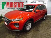 Lava Orange 2019 Hyundai Santa Fe SE 2.4 AWD 8-Speed