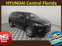 NO DEALER FEE! Twilight Black 2019 Hyundai Santa Fe SE