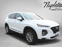 Quartz White 2019 Hyundai Santa Fe SE 2.4 FWD 8-Speed