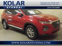 Scarlet Red 2019 Hyundai Santa Fe SEL 2.4 AWD 8-Speed
