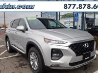 2019 Hyundai Santa Fe SEL 2.4 Silver AWD, Black Cloth.