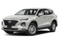 Quartz White 2019 Hyundai Santa Fe AWD 8-Speed