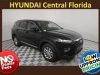 NO DEALER FEE! Twilight Black 2019 Hyundai Santa Fe I4