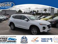 Santa Fe SEL with floor mats and cargo net.Every new
