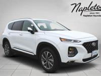 Quartz White 2019 Hyundai Santa Fe SEL Plus 2.4 185hp