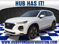 Hub Has It !!!  This Quartz Whitw 2019 Hyundai Santa Fe
