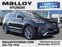 Recent Arrival!  Black 2019 Hyundai Santa Fe XL Limited