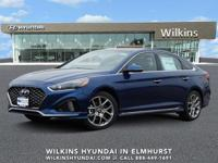 Blue 2019 Hyundai Sonata Limited 2.0T FWD 8-Speed