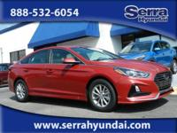 New Price! Scarlet Red 2019 Hyundai Sonata SE FWD