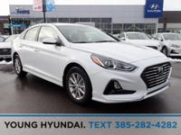 White 2019 Hyundai Sonata FWD 6-Speed Automatic with