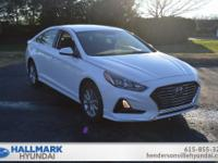 Quartz White Pearl 2019 Hyundai Sonata SE FWD 6-Speed