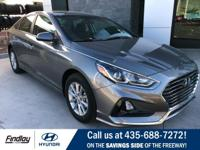 Gray 2019 Hyundai Sonata SE FWD 6-Speed Automatic with