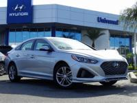 Gray Cloth. $3,186 off MSRP! Silver 2019 Hyundai Sonata