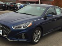 Blue 2019 Hyundai Sonata Sport FWD 6-Speed Automatic