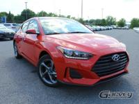 New 2019 Hyundai Veloster! This vehicle has a 2.0L