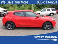 Racing Red 2019 Hyundai Veloster FWD 6-Speed Automatic