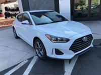 White 2019 Hyundai Veloster FWD 6-Speed Automatic with