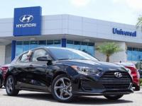 Ultra Black 2019 Hyundai Veloster FWD 6-Speed Automatic