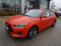 Sunset Orange 2019 Hyundai Veloster FWD 6-Speed