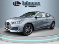 $2,775 off MSRP! Silver 2019 Hyundai Veloster FWD