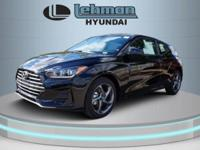 $2,775 off MSRP! Ultra Black 2019 Hyundai Veloster FWD