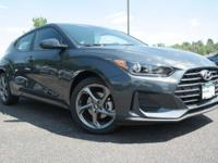 . THUNDER GRAY exterior and BLACK interior, Veloster