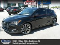 This Hyundai Veloster delivers a Regular Unleaded I-4