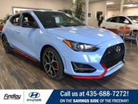 Blue 2019 Hyundai Veloster N FWD 6-Speed Manual 2.0L