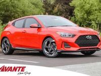 Sunset Orange 2019 Hyundai Veloster Turbo FWD