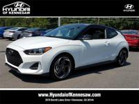 White 2019 Hyundai Veloster Turbo FWD 7-Speed Automatic