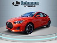 $1,500 off MSRP! Sunset Orange 2019 Hyundai Veloster