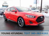 Orange 2019 Hyundai Veloster Turbo FWD Shiftronic 1.6L