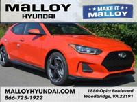 Recent Arrival!  Sunset Orange 2019 Hyundai Veloster