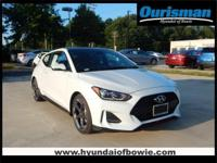 New Price! White 2019 Hyundai Veloster Turbo FWD