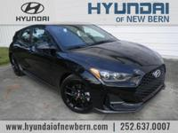 Recent Arrival!  Black 2019 Hyundai Veloster Turbo