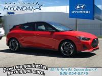 Orange 2019 Hyundai Veloster Turbo Ultimate FWD 6-Speed