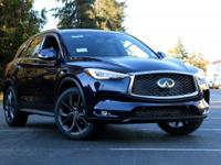 black colored 2019 INFINITI QX50 4D Sport Utility