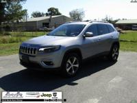 Silver 2019 Jeep Cherokee Limited 4WD 9-Speed 948TE