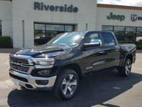 One-Owner Black 2019 Ram 1500 Laramie Crew Cab with a