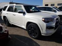 Blizzard Pearl 2019 Toyota 4Runner Limited RWD 5-Speed