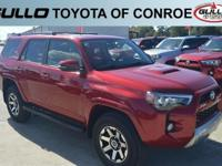 Red 2019 Toyota 4Runner TRD Off-Road Premium  Let the