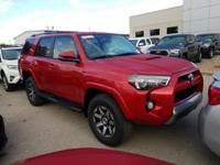 B. Red 2019 Toyota 4Runner TRD Off-Road Premium 4WD