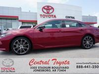 8-Speed Automatic. Ruby 2019 Toyota Avalon XSE 4D Sedan