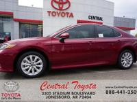 Black. Ruby 2019 Toyota Camry LE 4D Sedan FWD 8-Speed