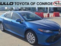 Blue 2019 Toyota Camry LE 28/39 City/Highway MPGLet the