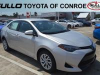 Silver 2019 Toyota Corolla LE 36/28 Highway/City MPG