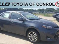 Gray 2019 Toyota Corolla XLE 36/28 Highway/City MPG