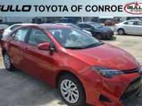 Red 2019 Toyota Corolla LE 36/28 Highway/City MPG  Let