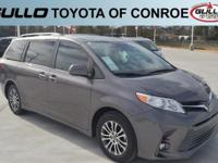 Gray 2019 Toyota Sienna XLE 19/27 City/Highway MPG  Let