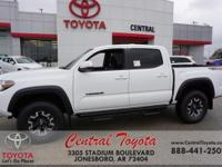 4WD. Super White 2019 Toyota Tacoma TRD Offroad 4D